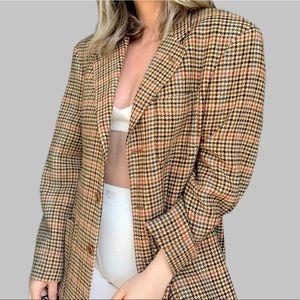 Vintage Oversized Blazer Jacket Boyfriend Fit Rust
